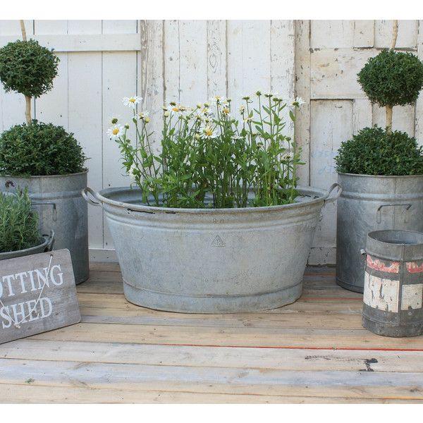 Large Planter Zinc Planter Vintage Bath French Planter Planter ... on zinc trough planter, zinc planter trays, zinc finish,