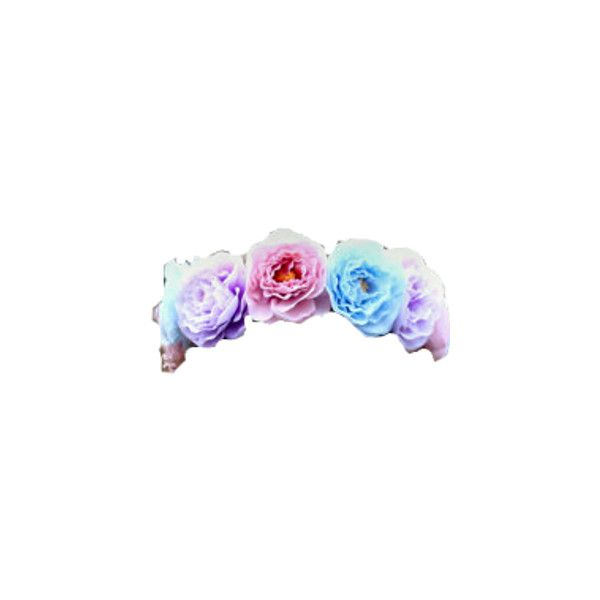 Transparent Purple Flower Crown