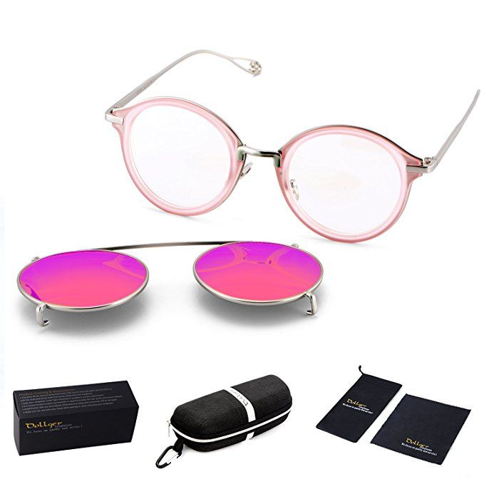 Style Dollger Lens Steampunk Mirrored And Clip On Sunglasses Round Ful3T1JKc5
