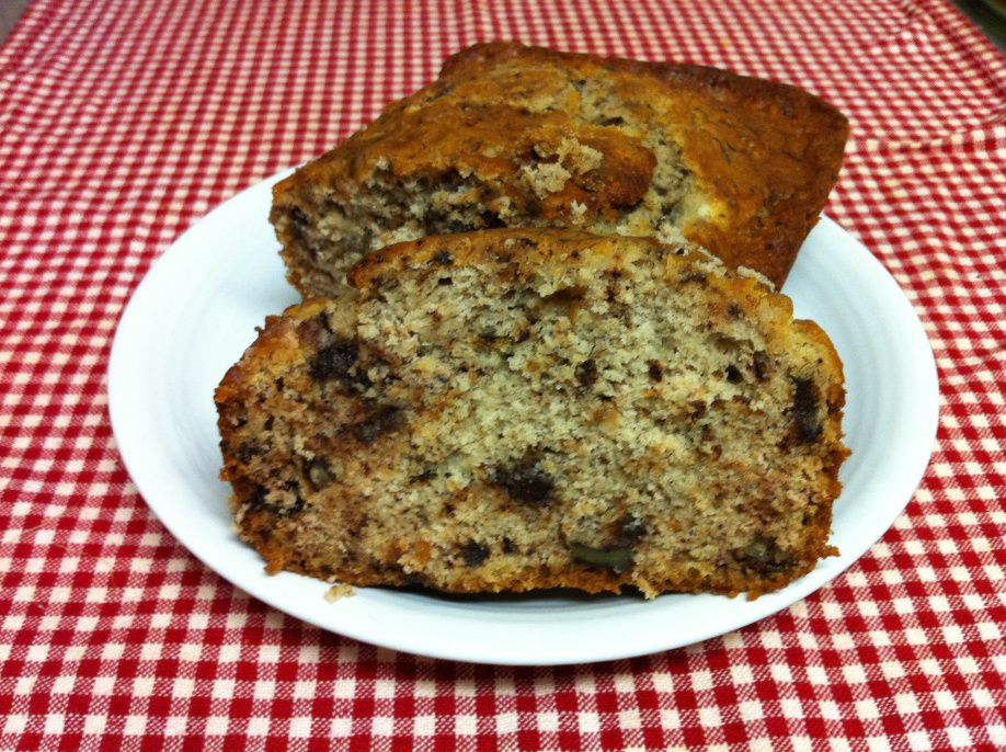 Banana bread with images gluten free yellow cake mix
