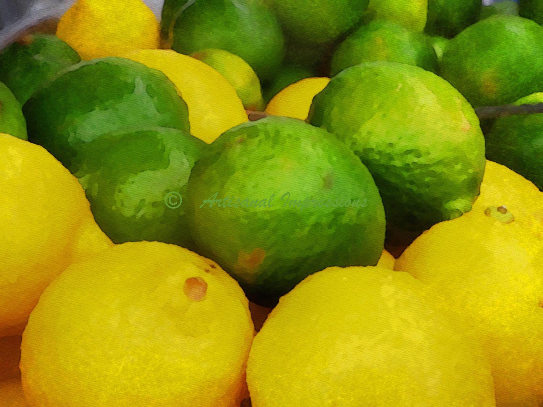 Lemon and Lime Photo, Green and Yellow, Fine Art Photo, Wall Art ...