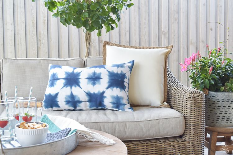 Backyard Patio Party Tour Provence Backyards And Sectional Couches. Full  Size Of Pillows Restoration Hardware Outdoor ...