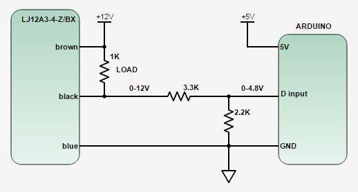 Lj12a3 4 Z By Inductive Proximity Sensor Detection Switch Pnp Dc6