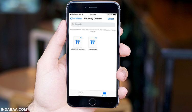 How to Recover Recently Deleted Documents in Files App on