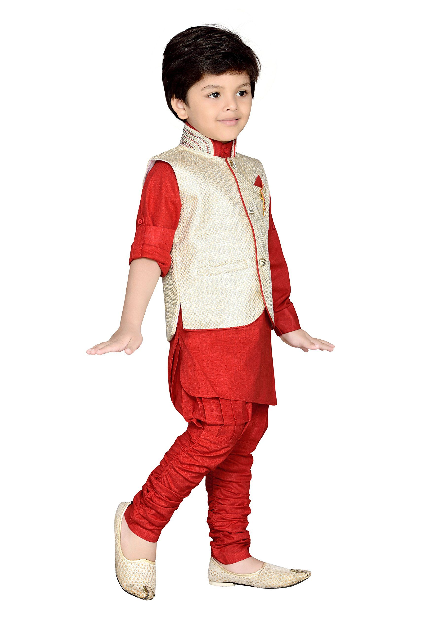 af4ee54468 AJ Dezines Kids Indian Wear Bollywood Style Kurta Pyjama Waistcoat for Baby  Boys 637RED0 >>> Click photo for even more details. (This is an affiliate  link).