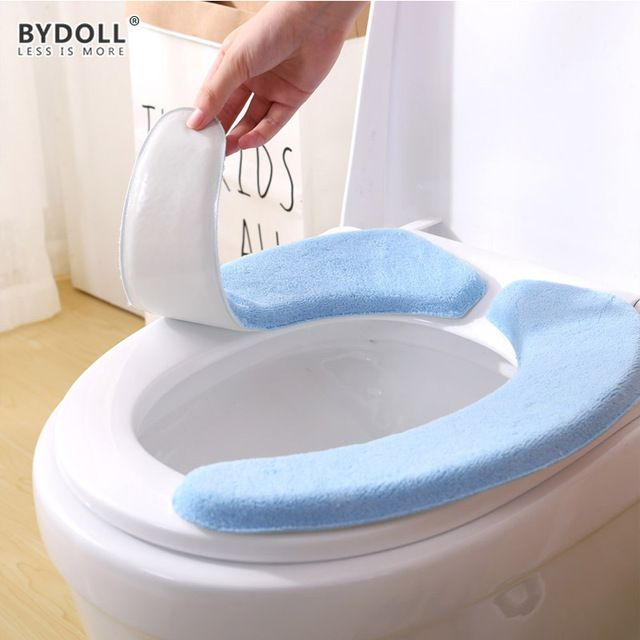 Bydoll Portable And Washable Toilet Seat Cover Cushion Pads Warmer