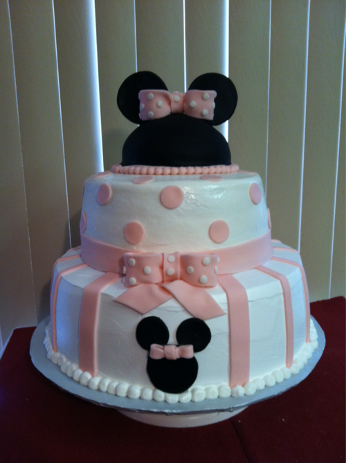 Minnie Mouse Baby Shower Cake : minnie, mouse, shower, Disney, Cake.., Shower, Idea!, Cakes,