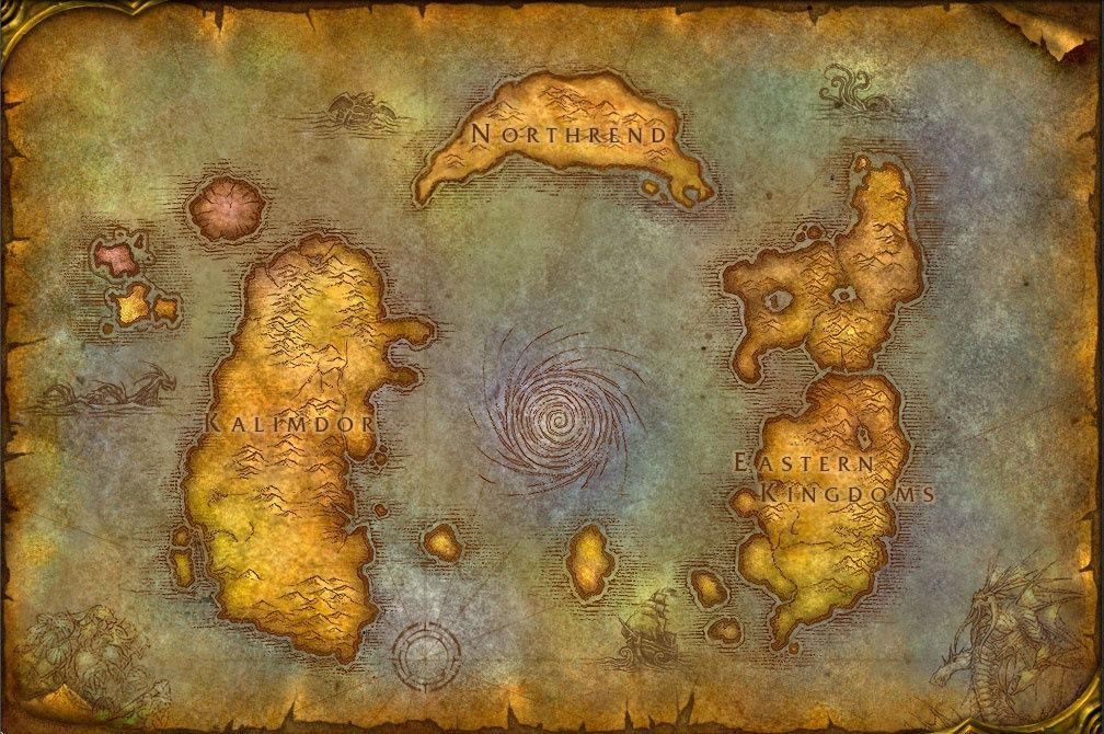 Azeroth Map 2019 Mapa De Warcraft World Of Warcraft Map Poster Old