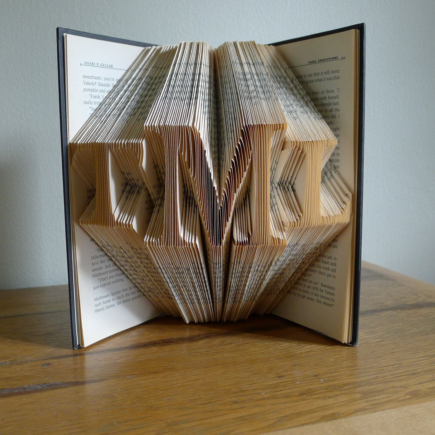 Wedding Present Personalized Gifts Monogrammed For Men Gift Her Boss Custom Folded Book Sculpture