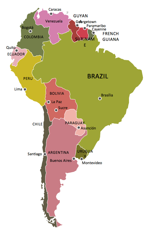 Geo Map South America Continent How To Draw South America Continent South America Continent Continents South America Map