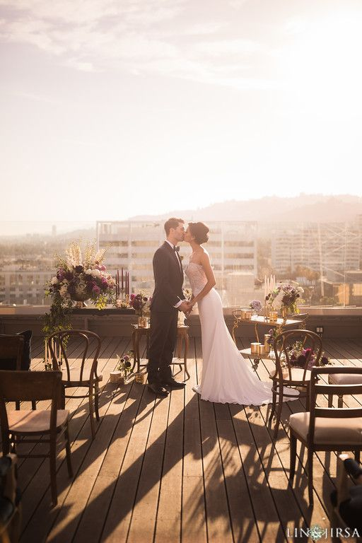 Rooftop Wedding Ceremony Venue. The Hollywood Roosevelt