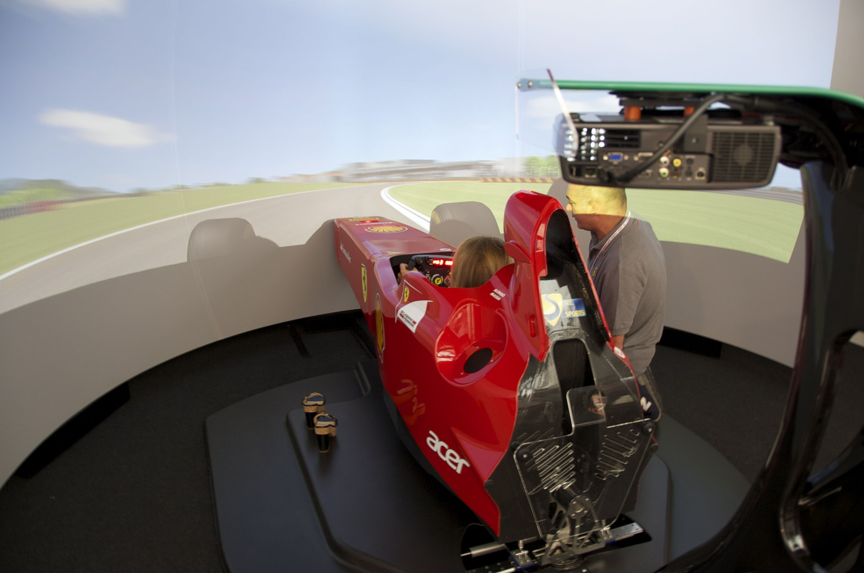 The Ferrari F1 Simulator At Manza Gp Cars Motorcycles