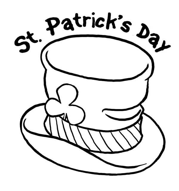 St Patricks Day And Leprechauns Hat Coloring Page Coloring Pages St Patricks Day Leprechaun Hats