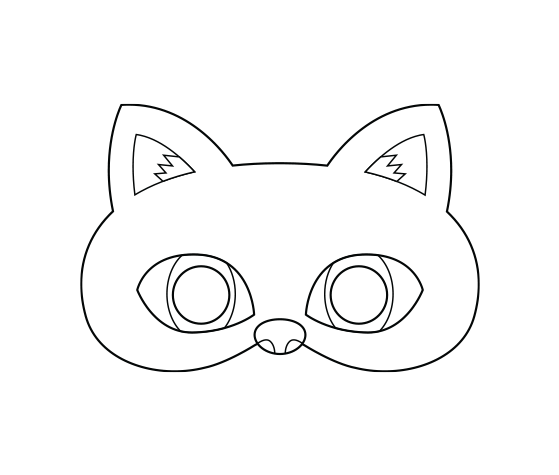 Download this Black Cat Printable Coloring Mask and other ...