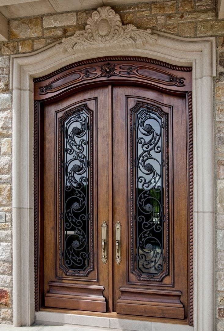Showcase the chateau custom luxury mansion house for Unique front entry doors