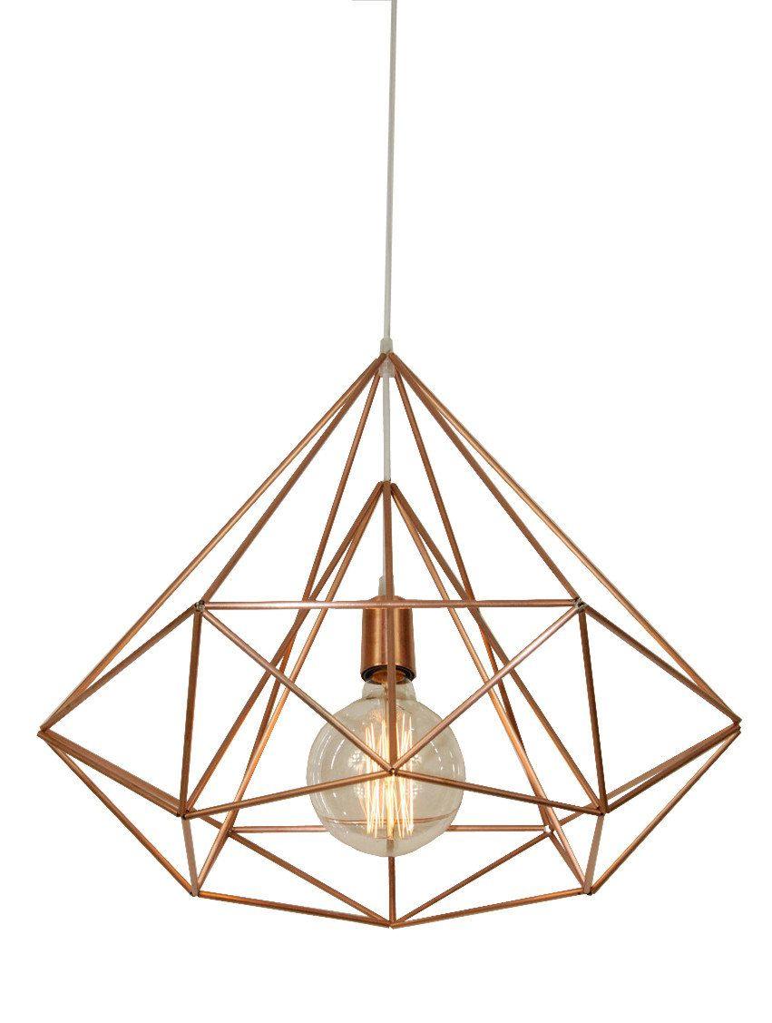 Himmeli Light Diamond Cage Pendant Geometric Copper By