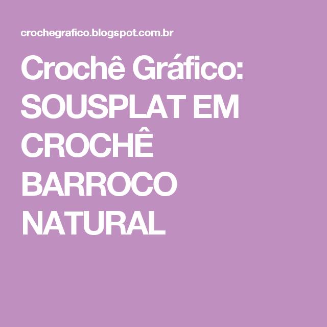 Crochê Gráfico: SOUSPLAT EM CROCHÊ BARROCO NATURAL