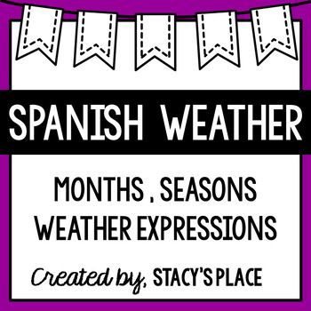 Spanish Seasons, Months with Weather Expressions (Meses, Estaciones ...