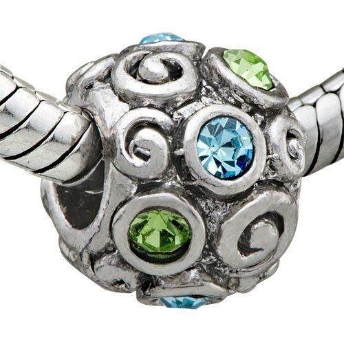 Pugster Jewelry Crystal Charm Chamilia Pandora Beads Compatible $12.49