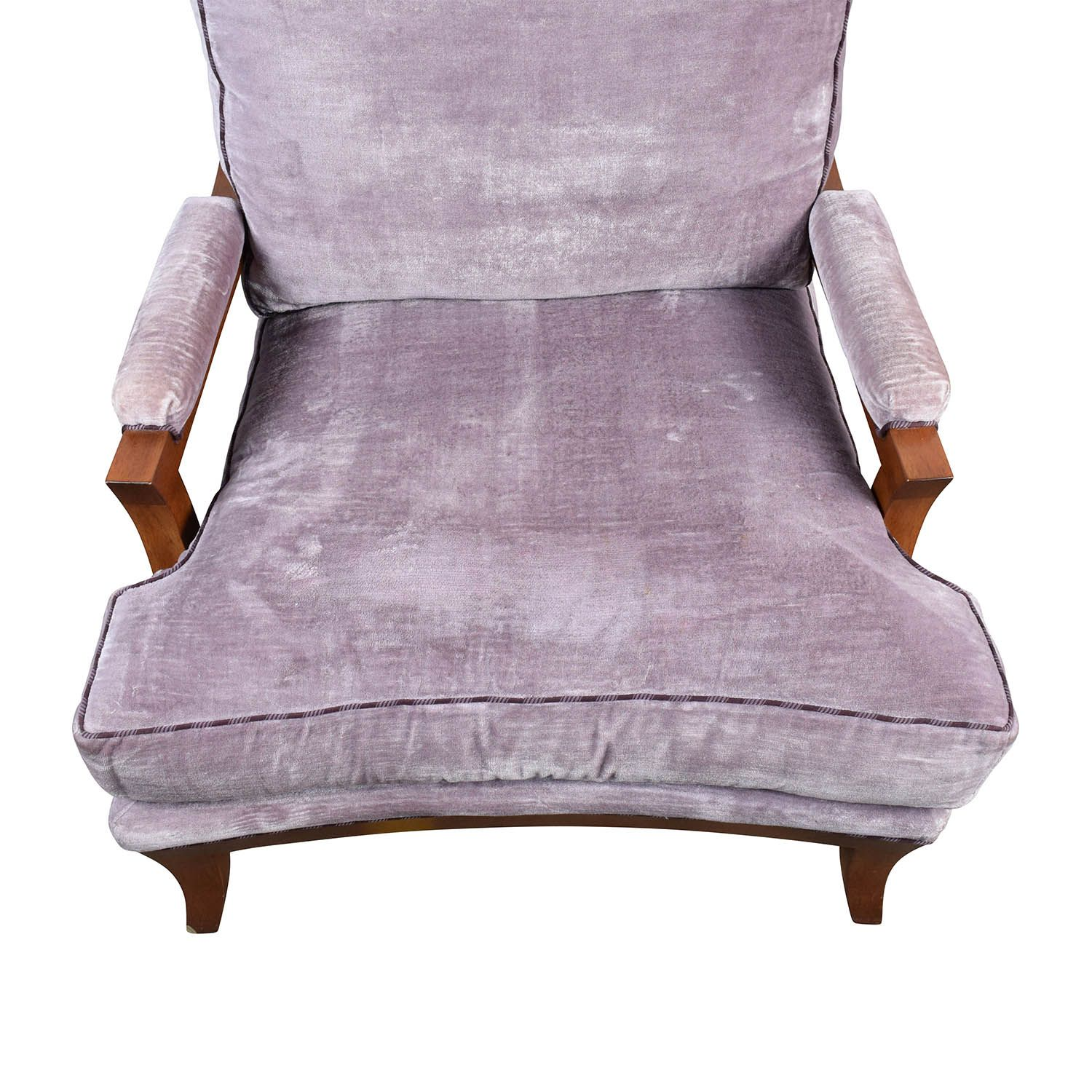 Sessel Lila Purple Velvet Accent Chair Stühle Velvet Accent Chair Velvet