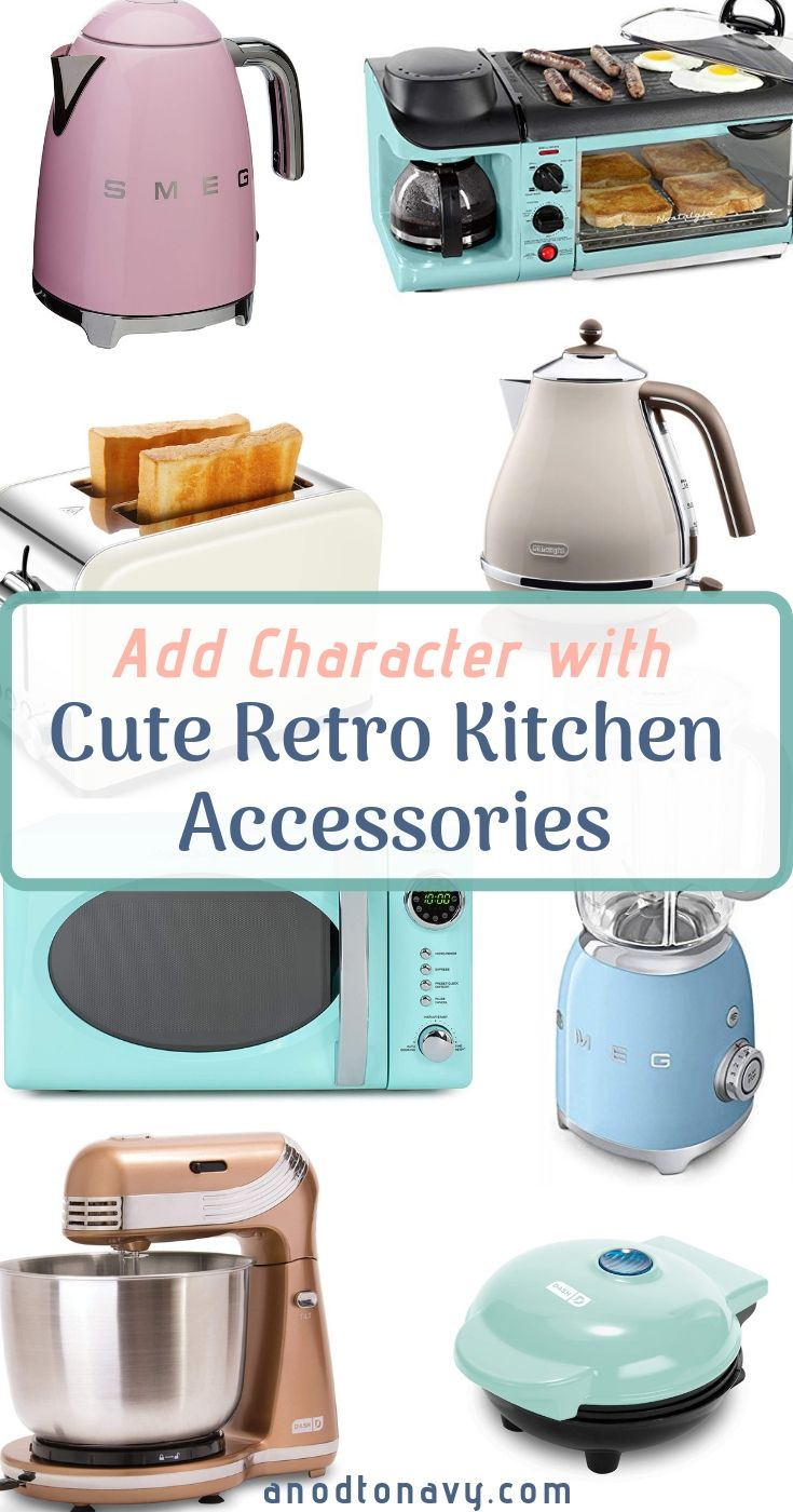 A Kitchen With Vintage Character: Adding Character: Cute Retro Kitchen Accessories