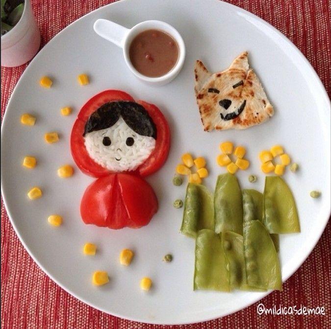 Comida ni os caperucita roja recetas de cocina para for Cocina creativa para ninos