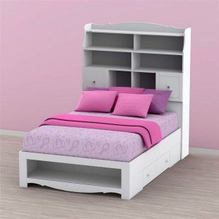 Bookcase Headboard With Images Kids Bed Furniture Bookcase
