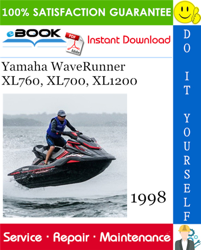 1998 Yamaha Waverunner Xl760 Xl700 Xl1200 Service Repair Manual Yamaha Waverunner Waverunner Yamaha