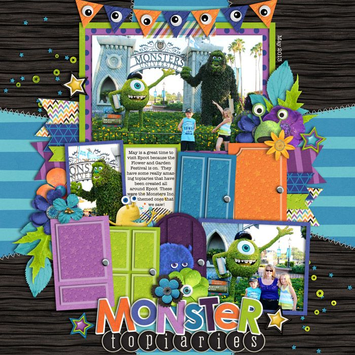 Used the following from the Sweet Shoppe Template Trio Pack 30 - monster template