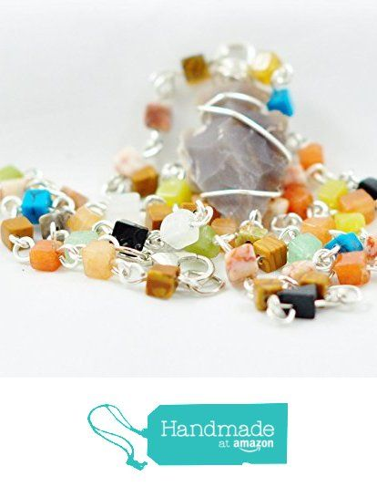 Arrowhead Pendant Necklace On Colorful Beaded Chain from Jooniebeads Treasures http://www.amazon.com/dp/B01A6CJ9R6/ref=hnd_sw_r_pi_dp_RFGOwb15XDF33 #handmadeatamazon