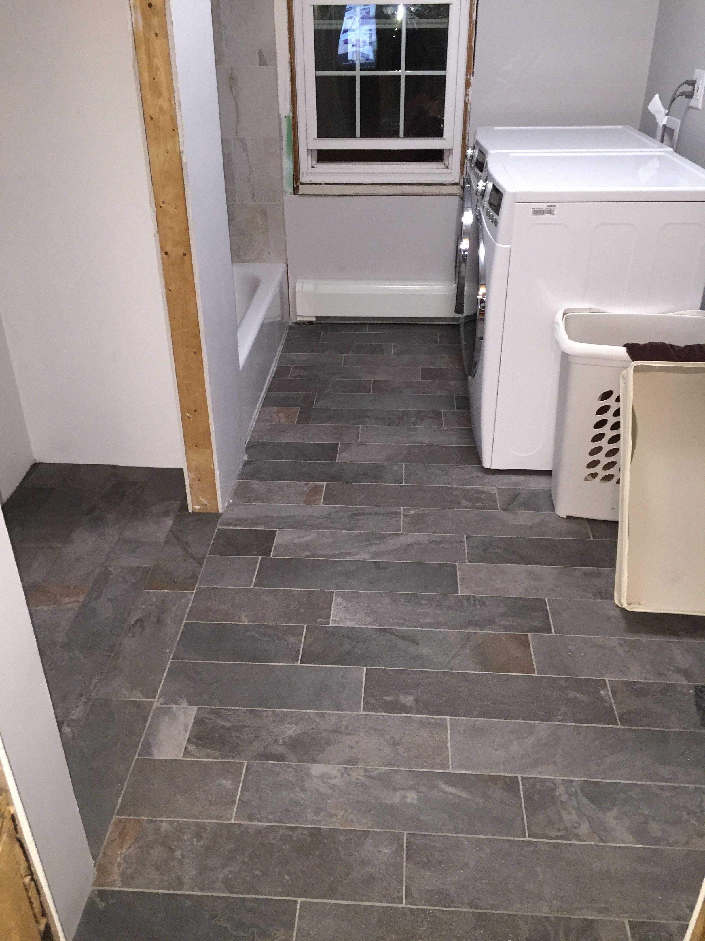 Random Pattern Black Ivetta Tile Lowes Tile Floor Kitchen Floor