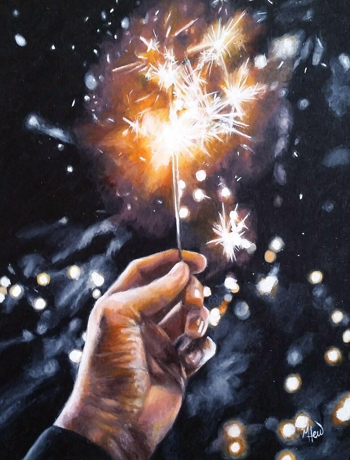 And flying sparks fireworks