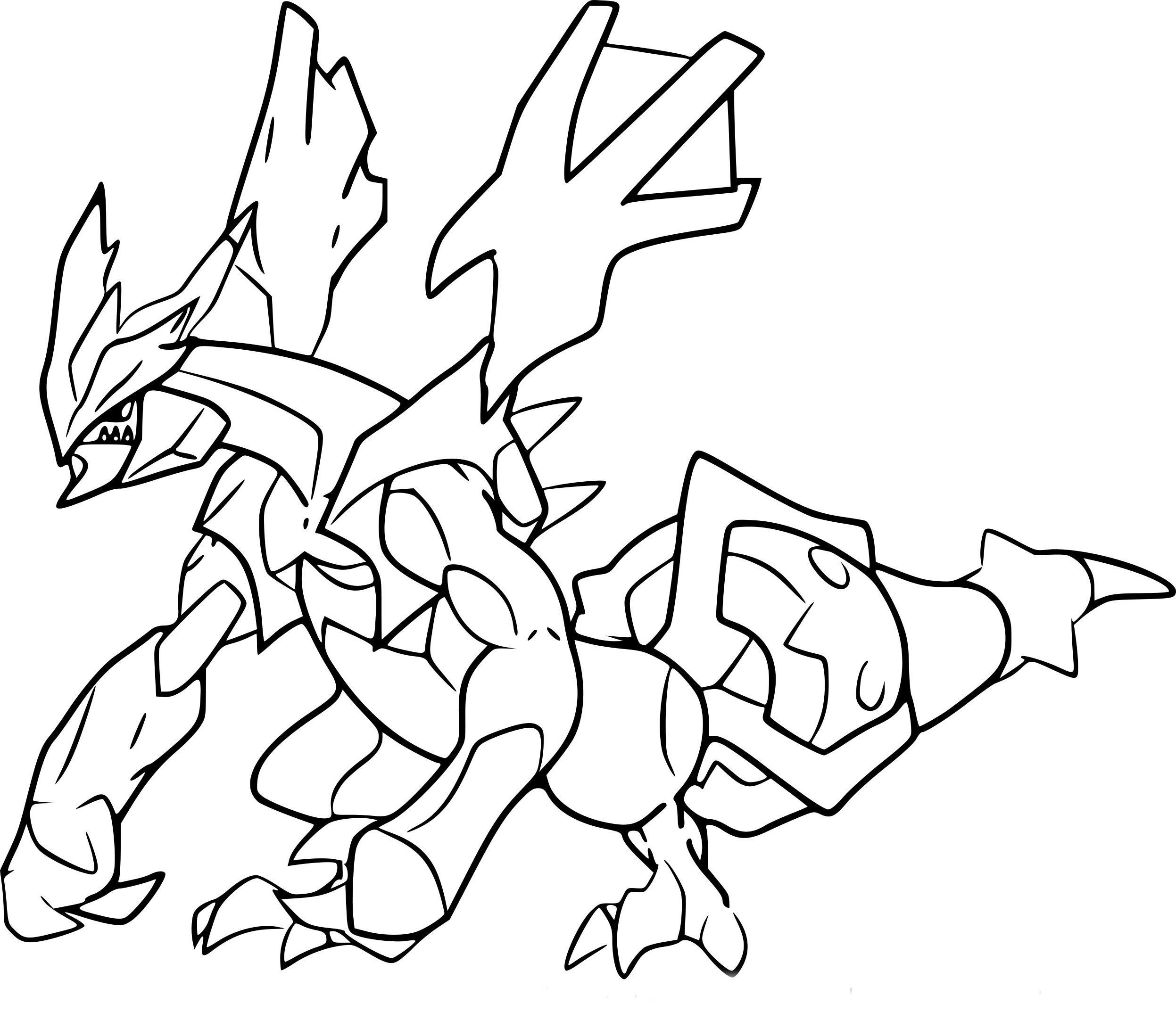 Coloriage Kyurem Noir Pokemon Coloriagepokemon In 2020 Okay Gesture