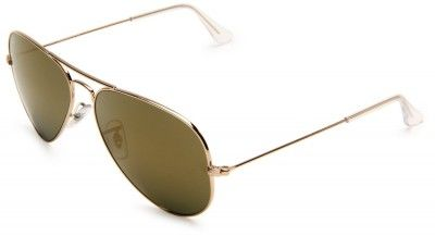 Óculos Ray Ban RB3025 Aviator Sunglasses Gold Frame Gold Mirror Lens 58mm   Óculos  Ray 6275878873