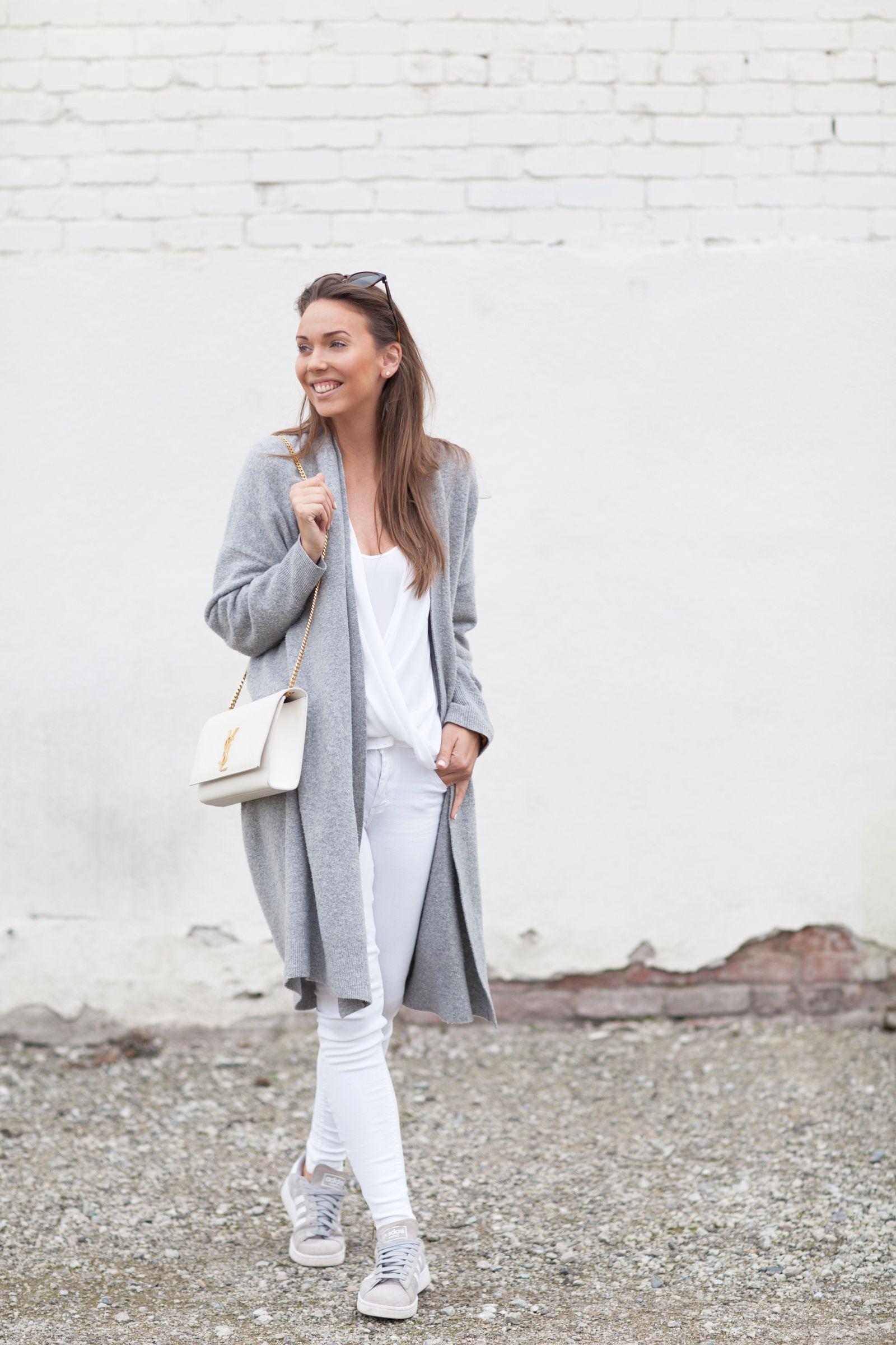 knit DKNY blouse BCBGMAXAZRIA pants SUPERTRASH sneakers ADIDAS campus bag YSL sunnies CÉLINE | Hanna Väyrynen