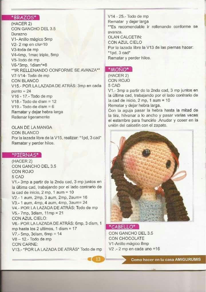 Dorothy3 | amiguismo | Pinterest | Patrones amigurumi, Muñecas y ...