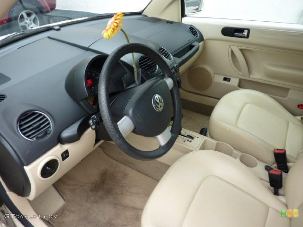 Cream Interior 2006 Volkswagen New Beetle 2 5 Convertible