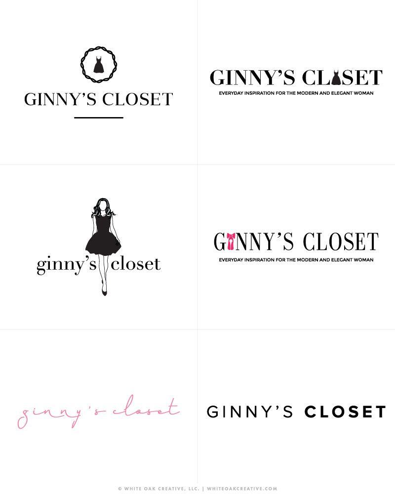 Ginny S Closet White Oak Creative White Oak Creative Custom Blog Design Logo Design