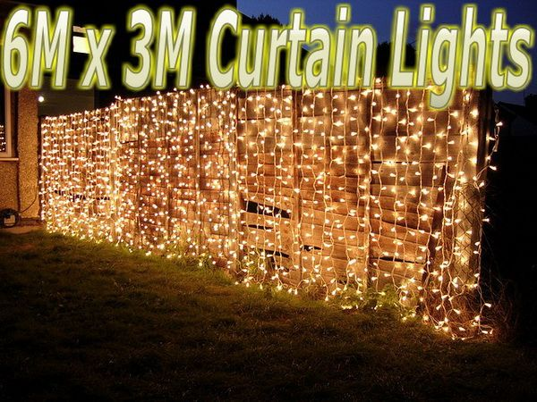 6m x 3m 480 leds warm white string fairy curtain lights christmas 6m x 3m 480 leds warm white string fairy curtain lights christmas indoor outdoor aloadofball Image collections