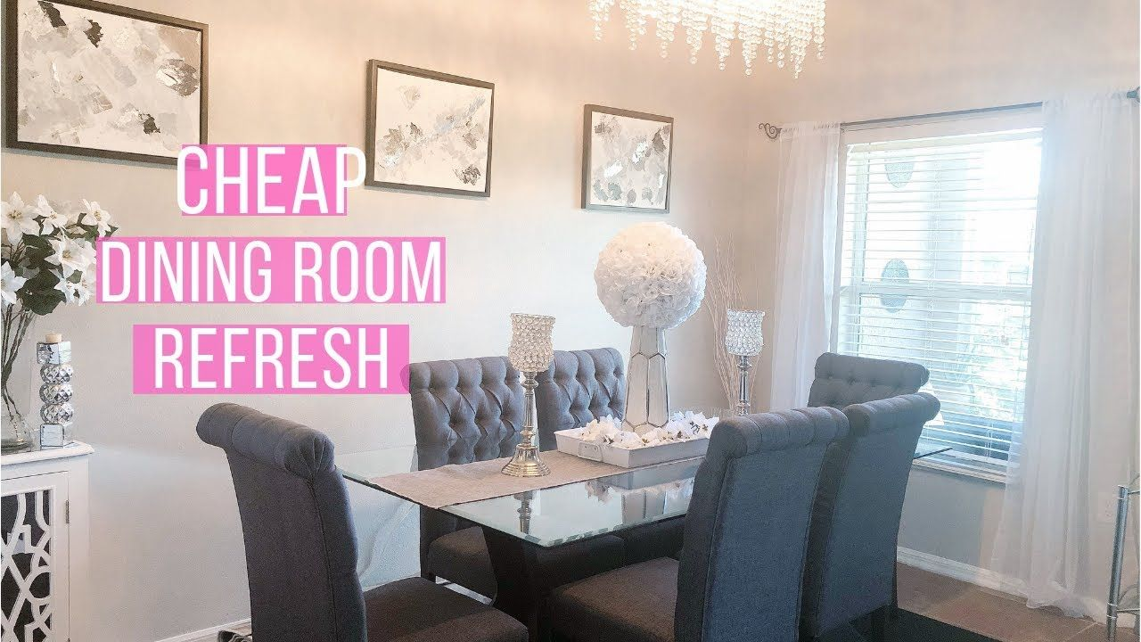 Cheap Dining Room Refresh And Decorating Ideas Youtube Plates