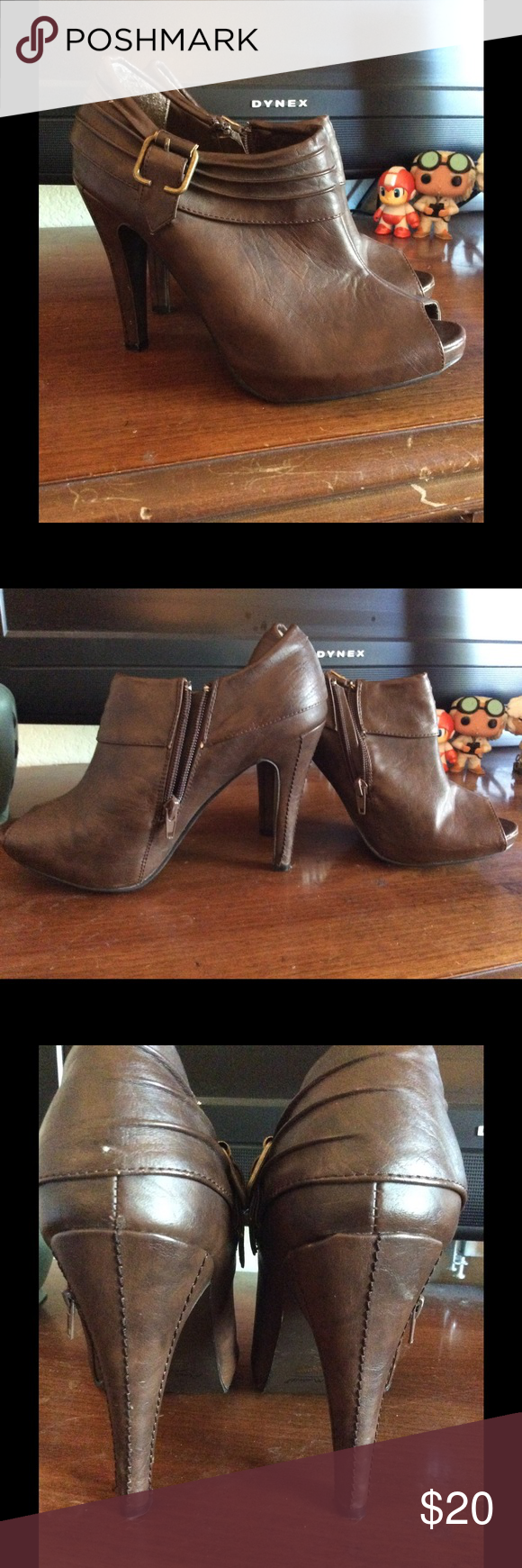 Anne Michelle Booties Super cute and comfy Anne Michelle booties. I think these are really easy to walk in, as you can see they have been worn, but are still in great condition. Don't hesitate to make me an offer! Anne Michelle Shoes Ankle Boots & Booties