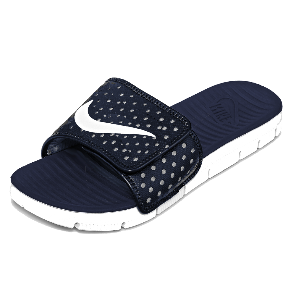 Nike Flex Motion Slide Sandal Midnight Navy White