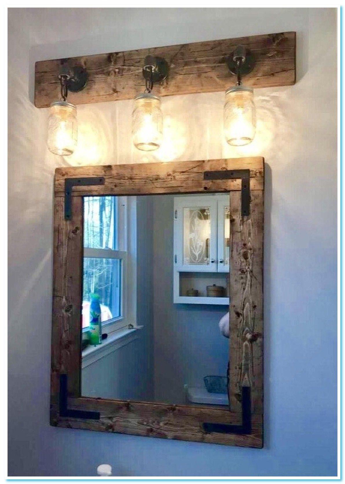 108 Reference Of Vanity Diy Lights Farmhouse Mirrors Rustic Mirrors Rustic Bathroom Decor