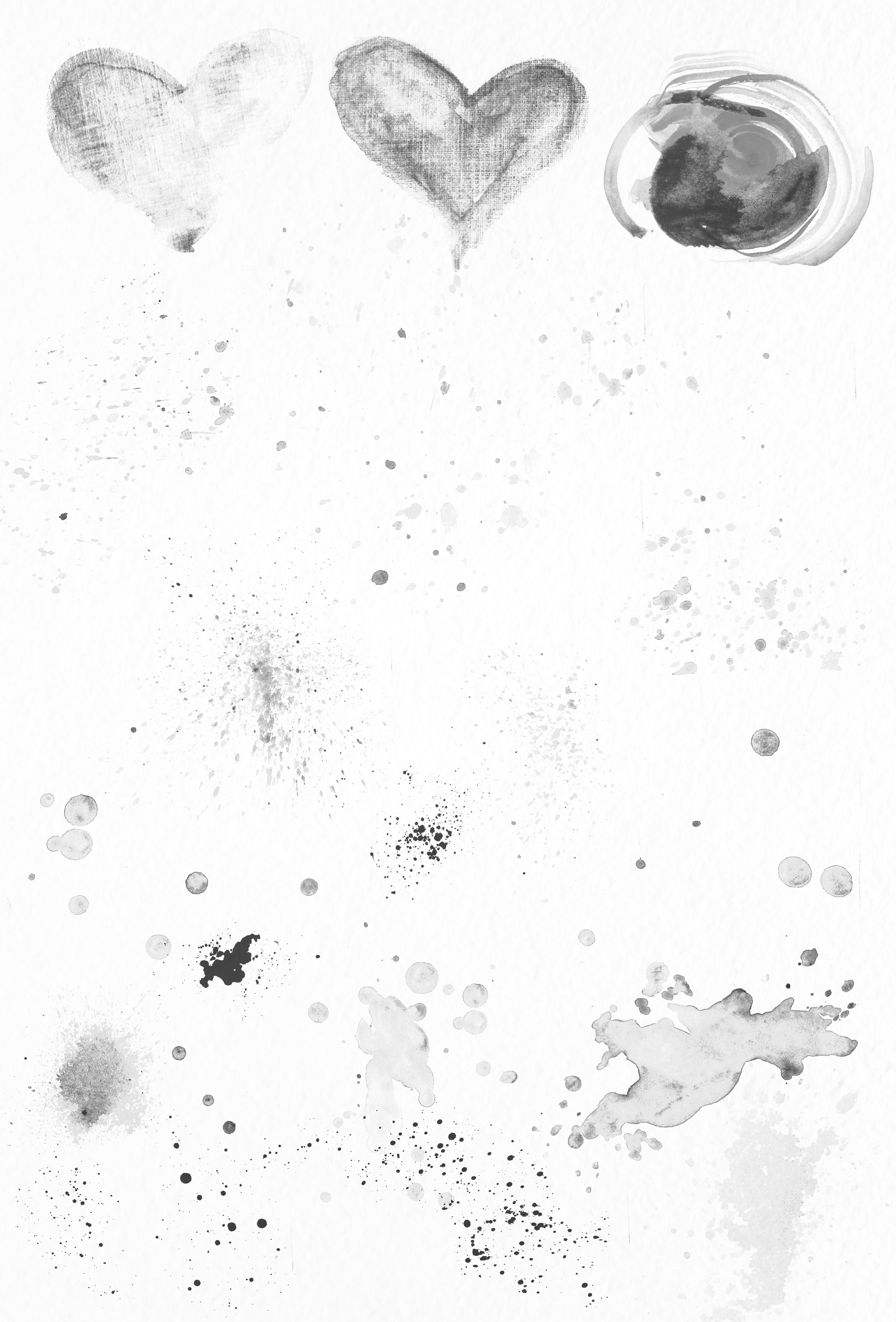 90 Photoshop Watercolour Brushes #paper#scanned#created#scratch