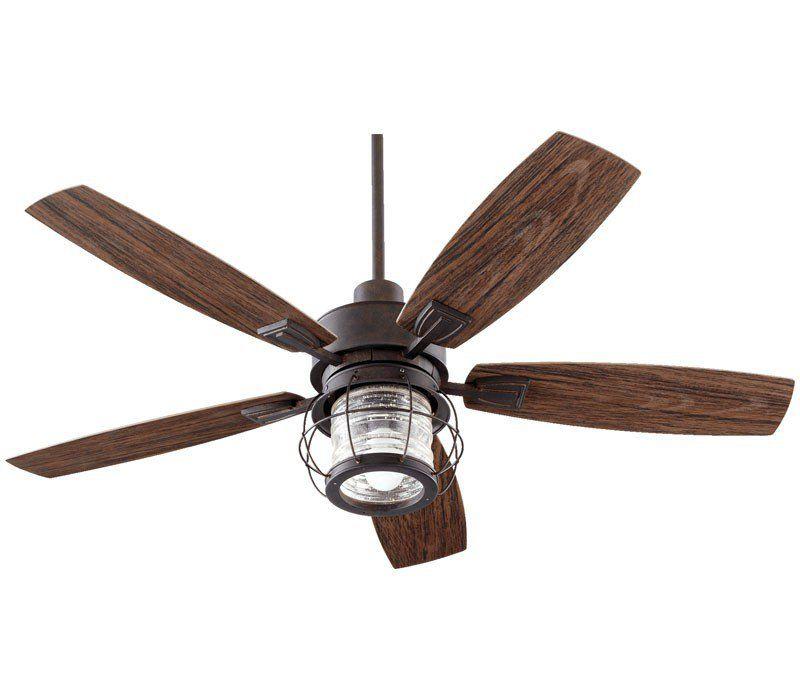 Quorum 13525 44 Galveston Patio Toasted Sienna 52 Outdoor Ceiling Fan W Light Wall Ctrl Outdoor Ceiling Fans Patio Fan Ceiling Fan