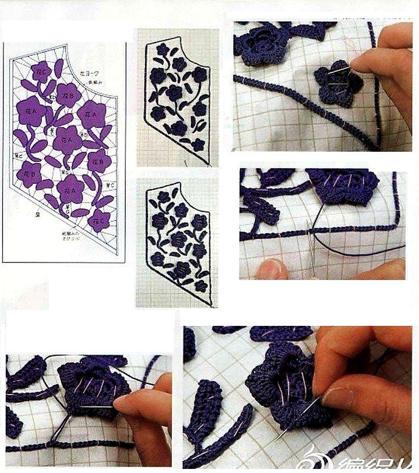 Patrones para Crochet: Apliques en Cuellos de Crochet | Crochet ...