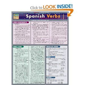 Amazon com: Spanish Verbs (Laminated Reference Guide