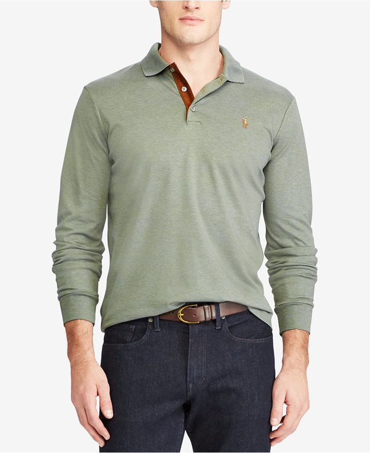 770db51e Polo Ralph Lauren Men's Big & Tall Classic-Fit Long Sleeve Soft-Touch Polo  - Casual Button-Down Shirts - Men - Macy's
