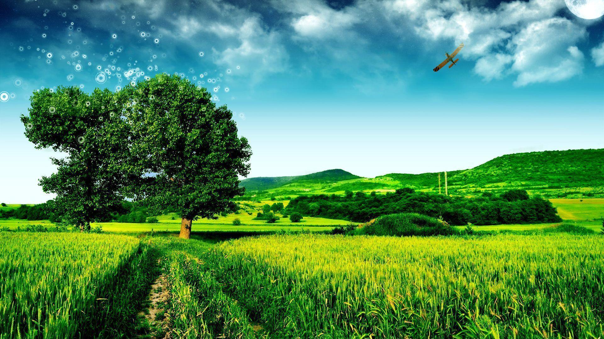 Cool Landscape Hd Wallpapers 1080p On Desktop Backgrounds With Landscape Hd Wallpapers 1080p Download Hd Wallpaper Di 2020 Hijau Rumah Hijau Rumput