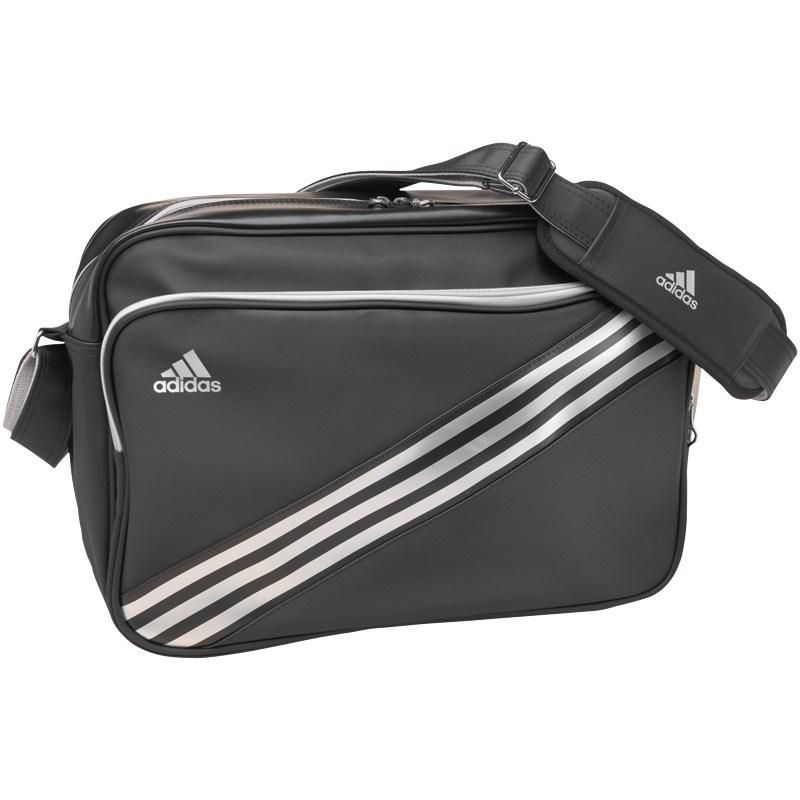 334c838419 Adidas 3 Stripe Enamel Messenger Bag Black Silver Silver was £34.99 NOW  £13.99 at M M Direct